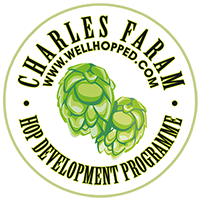 Charles Faram hop suppliers Hop Development logo. Click through for all things to do with new varieties