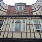 Photo of an old building in Worcester. Worrcester is dripping with history