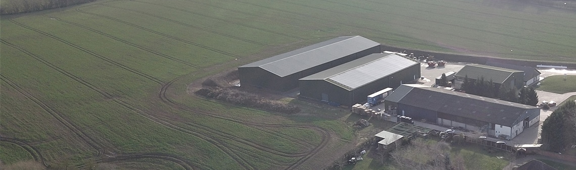 d'historie du houblon Aerial photo of the Charles Faram site in Newland Worcestershire