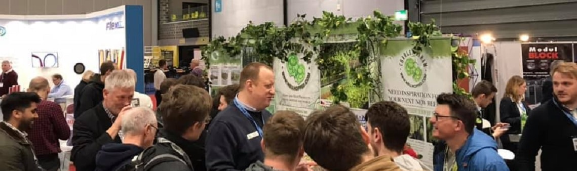 Photo of the Charles Faram exhibition stand at SIBA BeerX 2019